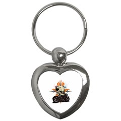 Skull Classic Motorcycle Key Chain (heart) by creationsbytom