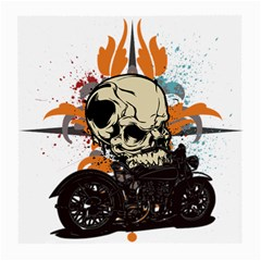 Skull Classic Motorcycle Glasses Cloth (medium) by creationsbytom
