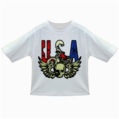 Usa Classic Motorcycle Skull Wings Infant/toddler T Shirt by creationsbytom
