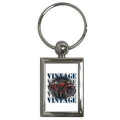 Vintage Motorcycle Multiple Text Shadows Key Chain (rectangle) by creationsbytom