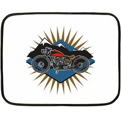 Classic Vintage Motorcycle Mini Fleece Blanket(two Sides)