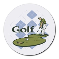 Classic Golf Round Mousepad by MegaSportsFan