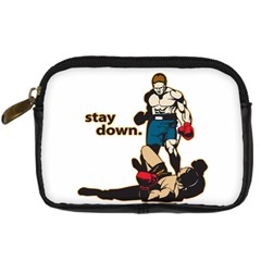 Stay Down Boxing Digital Camera Leather Case by MegaSportsFan