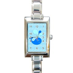 Playing In The Waves Rectangular Italian Charm Watch by StuffOrSomething