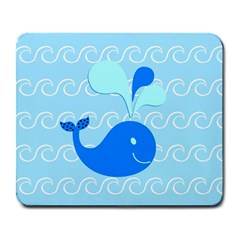 Playing In The Waves Large Mouse Pad (rectangle) by StuffOrSomething