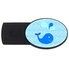 Playing In The Waves 2gb Usb Flash Drive (oval) by StuffOrSomething