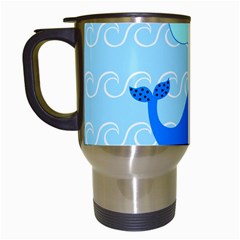 Playing In The Waves Travel Mug (white) by StuffOrSomething