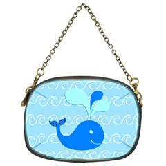 Playing In The Waves Chain Purse (one Side)