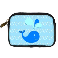 Playing In The Waves Digital Camera Leather Case by StuffOrSomething