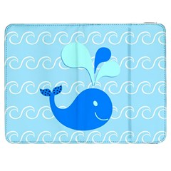 Playing In The Waves Samsung Galaxy Tab 7  P1000 Flip Case by StuffOrSomething