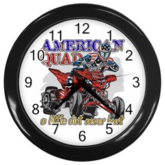 American Quad Wall Clock (black) by MegaSportsFan