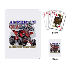 American Quad Playing Cards Single Design by MegaSportsFan