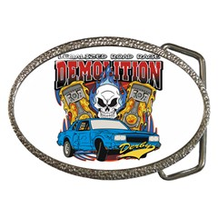 Demolition Derby Belt Buckle by MegaSportsFan