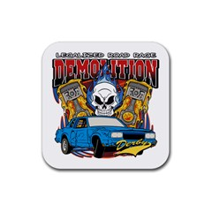 Demolition Derby Rubber Square Coaster (4 Pack) by MegaSportsFan