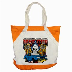 Demolition Derby Accent Tote Bag by MegaSportsFan