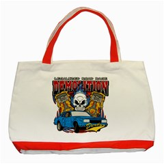 Demolition Derby Classic Tote Bag (red) by MegaSportsFan