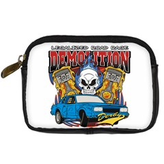 Demolition Derby Digital Camera Leather Case by MegaSportsFan