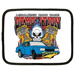 Demolition Derby Netbook Case (xl) by MegaSportsFan