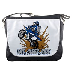 Eat Sleep Ride Motocross Messenger Bag by MegaSportsFan
