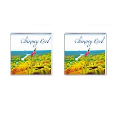 Chimney Rock Overlook Air Brushed Cufflinks (square) by Majesticmountain