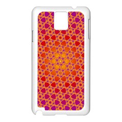 Radial Flower Samsung Galaxy Note 3 N9005 Case (white) by SaraThePixelPixie