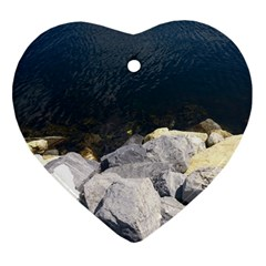 Atlantic Ocean Heart Ornament (two Sides) by DmitrysTravels
