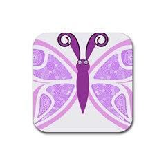 Whimsical Awareness Butterfly Drink Coasters 4 Pack (square) by FunWithFibro