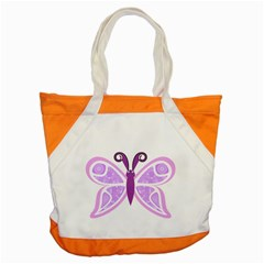 Whimsical Awareness Butterfly Accent Tote Bag by FunWithFibro
