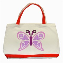 Whimsical Awareness Butterfly Classic Tote Bag (red) by FunWithFibro
