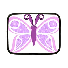 Whimsical Awareness Butterfly Netbook Sleeve (small) by FunWithFibro