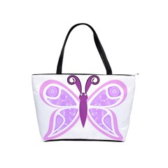 Whimsical Awareness Butterfly Large Shoulder Bag by FunWithFibro
