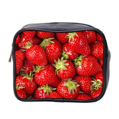 Strawberries Mini Travel Toiletry Bag (two Sides)