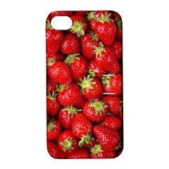 Strawberries Apple Iphone 4/4s Hardshell Case With Stand