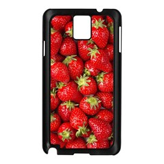 Strawberries Samsung Galaxy Note 3 N9005 Case (black)