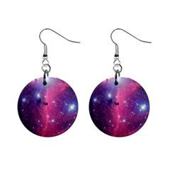 Galaxy Purple Mini Button Earrings by SonderSkySecond