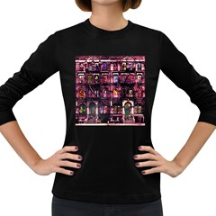 Physical Graffitied Women s Long Sleeve T Shirt (dark Colored) by SaraThePixelPixie