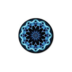 Crystal Star, Abstract Glowing Blue Mandala Golf Ball Marker 4 Pack by DianeClancy