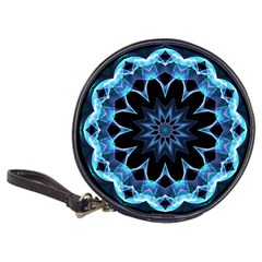 Crystal Star, Abstract Glowing Blue Mandala Cd Wallet by DianeClancy