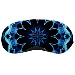 Crystal Star, Abstract Glowing Blue Mandala Sleeping Mask by DianeClancy