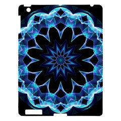 Crystal Star, Abstract Glowing Blue Mandala Apple Ipad 3/4 Hardshell Case by DianeClancy
