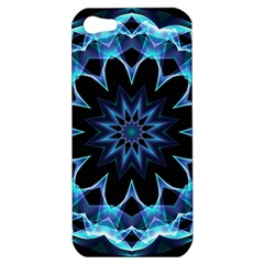 Crystal Star, Abstract Glowing Blue Mandala Apple Iphone 5 Hardshell Case by DianeClancy
