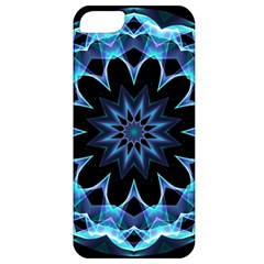 Crystal Star, Abstract Glowing Blue Mandala Apple Iphone 5 Classic Hardshell Case by DianeClancy