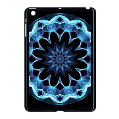 Crystal Star, Abstract Glowing Blue Mandala Apple Ipad Mini Case (black) by DianeClancy