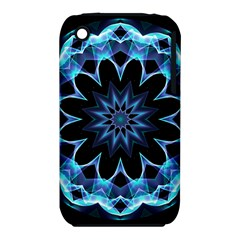 Crystal Star, Abstract Glowing Blue Mandala Apple Iphone 3g/3gs Hardshell Case (pc+silicone) by DianeClancy