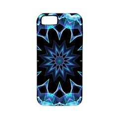 Crystal Star, Abstract Glowing Blue Mandala Apple Iphone 5 Classic Hardshell Case (pc+silicone) by DianeClancy