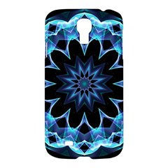 Crystal Star, Abstract Glowing Blue Mandala Samsung Galaxy S4 I9500/i9505 Hardshell Case by DianeClancy