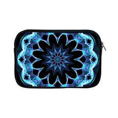 Crystal Star, Abstract Glowing Blue Mandala Apple Ipad Mini Zippered Sleeve by DianeClancy