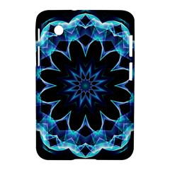 Crystal Star, Abstract Glowing Blue Mandala Samsung Galaxy Tab 2 (7 ) P3100 Hardshell Case  by DianeClancy