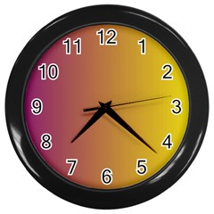 Tainted  Wall Clock (black)