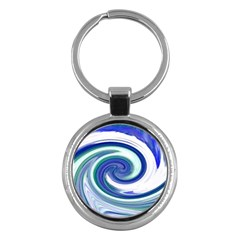 Abstract Waves Key Chain (round) by Colorfulart23